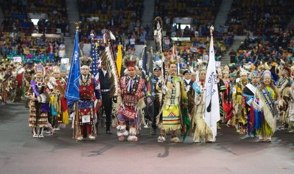 The 44th Annual Denver March Powwow will occur March 23-25, 2018. See dancers wearing traditional headdresses, moccasins, breastplates and shawls celebrating tribes all over the United States and Canada.