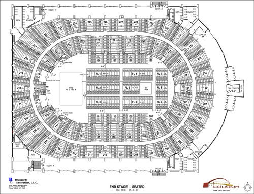 Seating chart denver coliseum