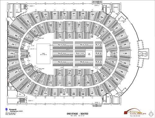 Denver Coliseum End Stage Seating Chart Thumbnail